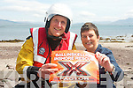 Get practising for the annual X-factor competition in aid of Ballinskelligs Inshore Rescue which takes place this July. .L-R ? and PRO Janette Murphy.