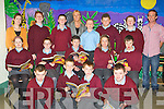 SCHOOL: Pupils of St Itas/ St Josephs Balloonagh, who were introuduced to their prinpical and teachers on Tuesday . Front l-r: Cian Begley, Adam Buckley, Niall Brosnan and Dylan Hyde. Seated l-r; Siobhan Looney, Lauren Walsh-Hayes, Leroy McCarthy, Jessica Dooner and Adam Maher. Back l-r: Helen Flaven (Teacher), Rudie Brodbery, Miss Grace Sheehan (principal), Richard McCarthy, John Quilligan, Jude Scallord and Colin Shanahan (SNA).