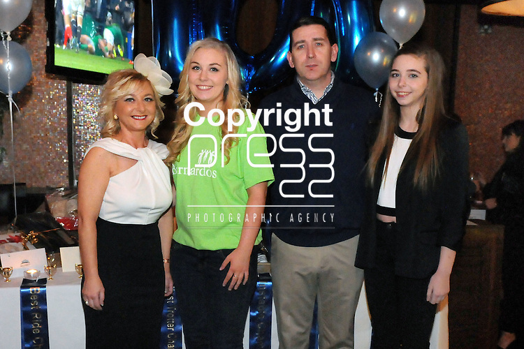 30/1/2015  Attending the 100 Miles Charity Race Night at Russells Bar, Raheen, were Niamh, Alison, (Organiser), Neill and Aoife Kiely, Father Russell Road.<br /> Pic: Gareth Williams / Press 22