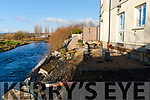 Marie & Eamon Roche whos garden has fallen in to the river in Abbeyfeale.