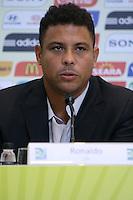 RIO DE JANEIRO; RJ; 07 DE MARÇO 2013 - Ronaldo na coletiva onde falou sobre as obras e os preparativos para receber a Copa das Confederações. FOTO: NÉSTOR J. BEREMBLUM - BRAZIL PHOTO PRESS. .