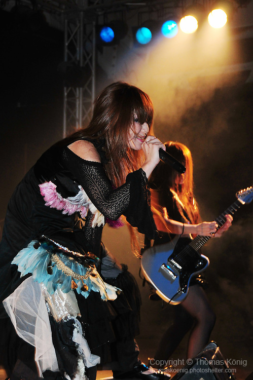 Kaohsiung, Taiwan -- The Japanese metal band SOUNDWITCH on stage during the 'Kiss Me Kill Me 2011 Tour' at The Wall Live House (Pier 2) in Kaohsiung, Taiwan.