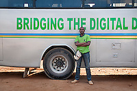 Patrick Aime Kigenza, ICT Bus technician and instructor. Kabaya, Rwanda. (Photo by Tadej Znidarcic)