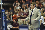 27 APR 2014: Juniata College head coach Pat Shawaryn during the Division III Men's Volleyball Championship held at the Kennedy Sports Center in Huntingdon, PA. Springfield defeated Juniata 3-0 to win the national title.  Mark Selders/NCAA Photos
