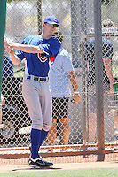Trevor Gretzky, son of hockey legend Wayne Gretzky, participates in a pre-draft workout for the Chicago Cubs at the Cubs minor league complex on June 4, 2011  in Mesa, Arizona. Gretzky was subsequently drafted in the 7th round by the Cubs in the 2011 First Year Players Draft on June 7, 2011. .Photo by:  Bill Mitchell/Four Seam Images.