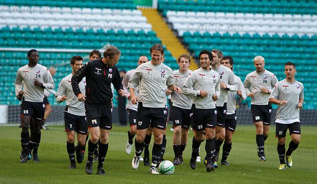 FC Utrecht training at Celtic Park