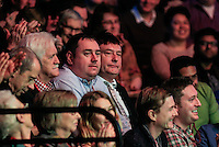 Former snooker player Jimmy White watch on in the crowd during the Dafabet Masters Quarter Final 3 match between Ronnie O'Sullivan and Mark Selby at Alexandra Palace, London, England on 14 January 2016. Photo by Liam Smith / PRiME Media Images