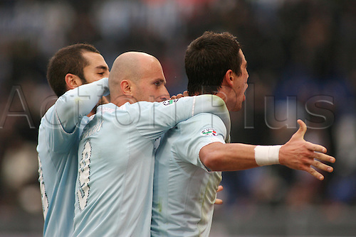 13th December 2009: Aleksander Kolarov Celebrates the wining goal during the match for the Italian Serie A Soccer Lazio V.Genoa at the Olympic Satadium,Rome.Photo by Leonardo Cavallo/ActionPlus - Worldwide Editorial