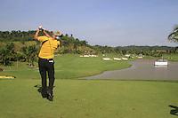 Daniel Chopra (SWE) tees off on the 10th tee during Sundays Final Round 3 of the 54 hole Iskandar Johor Open 2011 at the Horizon Hills Golf Resort Johor, Malaysia, 19th November 2011 (Photo Eoin Clarke/www.golffile.ie)