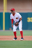 Florida Fire Frogs shortstop Ray-Patrick Didder (13) during a game against the Daytona Tortugas on April 8, 2018 at Osceola County Stadium in Kissimmee, Florida.  Daytona defeated Florida 2-1.  (Mike Janes/Four Seam Images)
