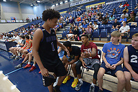 NWA Democrat-Gazette/ANDY SHUPE<br /> Tuesday, Sept. 18, 2018, during the first Campaign Tipoff for the United Way of Northwest Arkansas' campaign in Wildcat Arena at Har-Ber High School in Springdale. This year's goal for the agency is approximately $1.8 million