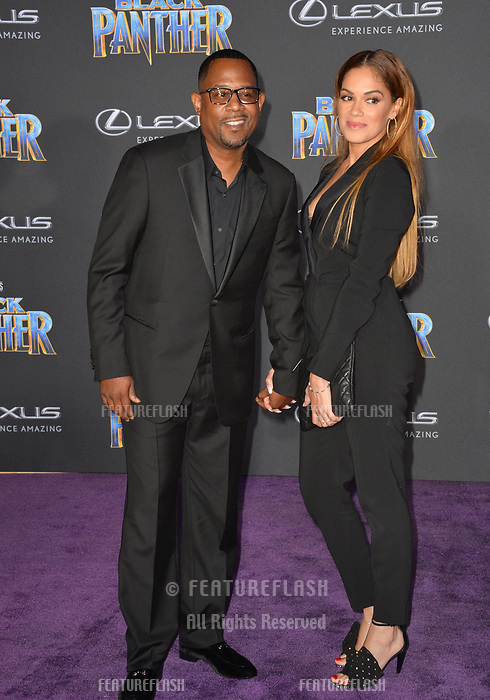 Martin Lawrence &amp; Roberta Moradfar at the world premiere for &quot;Black Panther&quot; at the Dolby Theatre, Hollywood, USA 29 Jan. 2018<br /> Picture: Paul Smith/Featureflash/SilverHub 0208 004 5359 sales@silverhubmedia.com