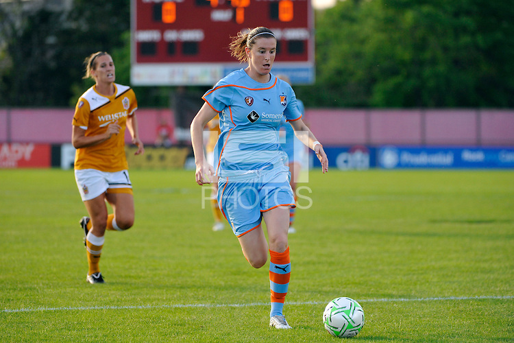 Adriana (8) of Sky Blue FC. Sky Blue FC defeated the Atlanta Beat 3-0 during a Women's Professional Soccer (WPS) match at Yurcak Field in Piscataway, NJ, on May 21, 2011.
