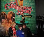 "Joe West, son of Maura West - As The World Turns' ""Carly"" and Young and Restless, makes his Broadway Debut as ""Ralphie"" in A Christmas Story The Musical and poses with his mom Maura and ATWT Colleen Zenk as they went to see the musical on November 21, 2012 at the Lunt-Fontaine Theatre, New York City, New York. (Photo by Sue Coflin/Max Photos)"