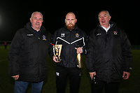 Presentation to Paul Martin to make his 500th match in charge during Romford vs Haringey Borough, Bostik League Division 1 North Football at Ship Lane on 8th November 2017