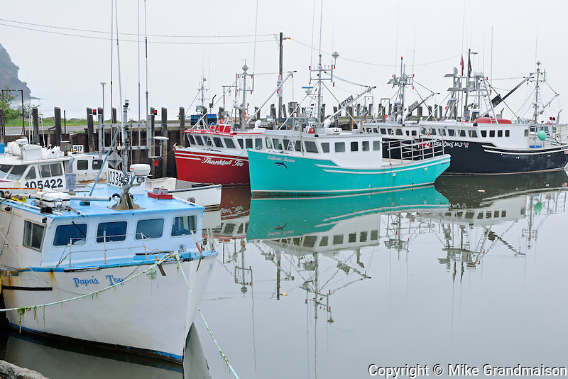 Fishing boats<br /> Alma<br /> New Brunswick<br /> Canada