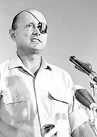 Defence Minister Moshe Dayan<br /> <br /> 26 OCTOBER 1967<br /> <br />                     Photo by [010] Hadani Dan