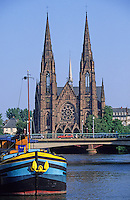 France,Alsace,Europe,Departement 67,Bas-Rhin,Strasbourg,Saint Paul's Church,Ill River