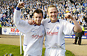 14/04/2007       Copyright Pic: James Stewart.File Name : sct_jspa17_raith_rovers_v_morton.MORTON'S PAUL MCGOWAN AND PETER WEATHERSTON CELEBRATE WINNING THE LEAGUE...James Stewart Photo Agency 19 Carronlea Drive, Falkirk. FK2 8DN      Vat Reg No. 607 6932 25.Office     : +44 (0)1324 570906     .Mobile   : +44 (0)7721 416997.Fax         : +44 (0)1324 570906.E-mail  :  jim@jspa.co.uk.If you require further information then contact Jim Stewart on any of the numbers above.........