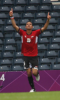 Men's Olympic Football match Egypt v Belarus on 1.8.12...Saadeldin Saad of Egypt, during the Men's Olympic Football match between Egypt v Belarus at Hampden Park, Glasgow.