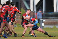 Action from the UC Championship 1st XV rugby match between Shirley Boys' High School and Ashburton College at Shirley BHS in Christchurch, New Zealand on Saturday, 6 July 2019. Photo: Dave Lintott / lintottphoto.co.nz