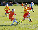 14/10/2012 Darren O'Brien of Avenue United intercepts a clearence from Jordan Nolan of Coole FC in the ESB Moneypoint U-12 Cup Final at the County Ground on Sunday. Pic: Don Moloney/Press 22