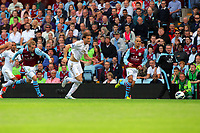 Saturday 15 September 2012<br /> Pictured: Michu of Swansea (C) outrunning Barry Bannan (L) and Karim El Ahmadi (R) both of Aston Villa.<br /> Re: Barclay's Premier League, Aston Villa v Swansea City FC at Villa Park, West Midlands, UK.