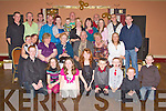 GOLDEN ANNIVERSARY: Michael and Margaret Walshe, Marian Park, Glin (seated centre) who celebrated their 50th wedding anniversary with family and friends in Kirby's Lanterns Hotel, Tarbert on Friday night.   Copyright Kerry's Eye 2008