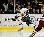 9 January 2009: University of Vermont Catamounts' defenseman Kevan Miller, a Sophomore from Los Angeles, CA, in action during the first game of a weekend series against the Boston College Eagles at Gutterson Fieldhouse in Burlington, Vermont. The Catamounts scored with one second remaining in regulation time to earn a 3-3 tie with the visiting Eagles. Mandatory Photo Credit: Ed Wolfstein Photo