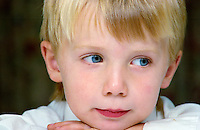 A five year old boy