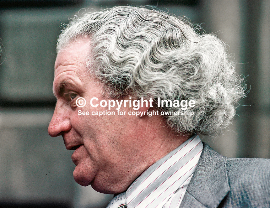 John Wilson, Fianna Fail, TD, Minister for Education, Rep of Ireland, 197707000215.<br /> <br /> Copyright Image from Victor Patterson,<br /> 54 Dorchester Park, <br /> Belfast, UK, BT9 6RJ<br /> <br /> t1: +44 28 9066 1296 (from Rep of Ireland 048 9066 1296)<br /> t2: +44 28 9002 2446 (from Rep of Ireland 048 9002 2446)<br /> <br /> m: +44 7802 353836<br /> <br /> e: victorpatterson@me.com<br /> www.victorpatterson.com<br /> <br /> Please see my Terms and Conditions of Use at www.victorpatterson.com. It is IMPORTANT that you familiarise yourself with them.<br /> <br /> Images used on the Internet must be visibly watermarked i.e. &copy; Victor Patterson<br /> within the body of the image and copyright metadata must not be deleted. Images <br /> used on the Internet have a size restriction of 4kbs and will be chargeable at current<br />  NUJ rates unless agreed otherwise.<br /> <br /> This image is only available for the use of the download recipient i.e. television station, newspaper, magazine, book publisher, etc, and must not be passed on to any third <br /> party. It is also downloaded on condition that each and every usage is notified within 7 days to victorpatterson@me.com<br /> <br /> The right of Victor Patterson to be identified as the author is asserted in accordance with The Copyright Designs And Patents Act (1988). All moral rights are asserted.