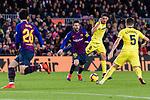 Lionel Messi of FC Barcelona (C) in action during the La Liga 2018-19 match between FC Barcelona and Villarreal at Camp Nou on 02 December 2018 in Barcelona, Spain. Photo by Vicens Gimenez / Power Sport Images