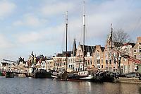 Nederland Haarlem 2016. Zeilschepen liggen aan de kade. Foto Berlinda van Dam / Hollandse Hoogte
