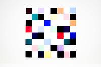 Ellsworth Kelly - Touches de Pinceau coupees en 49 carres disposes au hazard<br /> Parigi 16-10-2017 MoMa <br /> Esposizione Arte moderna <br /> Foto JB Autissier / Panoramic / Insidefoto