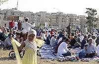 Roma, 8 agosto 2013<br /> Via Casilina, parco di Centocelle<br /> La comunit&agrave; islamica celebra la fine del mese di digiuno con la festa Eid al-fitr.