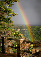 Rainbow captured during a rainstorm  at Petit Jean State Park.