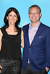 David Javerbaum and wife attends the Broadway Opening Night after party for 'An Act of God'  at Studio 54 on May 28, 2015 in New York City.
