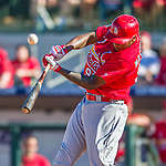 4 March 2016: St. Louis Cardinals outfielder David Washington in action during a Spring Training pre-season game against the Houston Astros at Osceola County Stadium in Kissimmee, Florida. The Cardinals fell to the Astros 6-3 in Grapefruit League play. Mandatory Credit: Ed Wolfstein Photo *** RAW (NEF) Image File Available ***