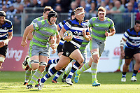 Jack Walker of Bath Rugby goes on the attack. Aviva Premiership match, between Bath Rugby and Newcastle Falcons on September 23, 2017 at the Recreation Ground in Bath, England. Photo by: Patrick Khachfe / Onside Images