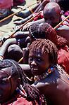 A Maasai Moran at his initiation into manhood.<br />Kajiado, Kenya.