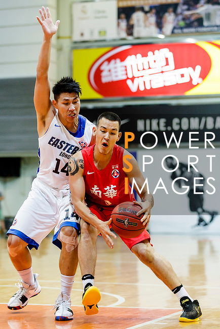 Glen Tang Robertson #00 of SCAA Men's Basketball Team goes to the basket against the Eastern Long Lions during the Hong Kong Basketball League game between Eastern Long Lions and SCAA at Southorn Stadium on May 29, 2018 in Hong Kong. Photo by Yu Chun Christopher Wong / Power Sport Images