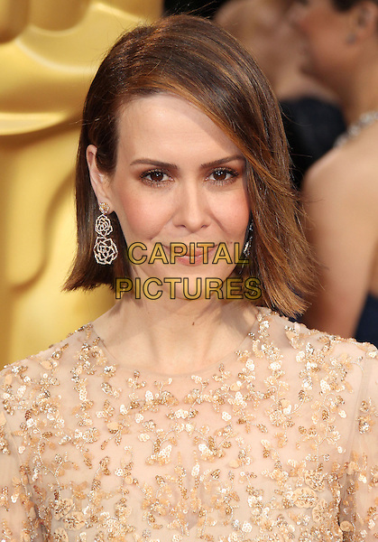 02 March 2014 - Hollywood, California - Sarah Paulson. 86th Annual Academy Awards held at the Dolby Theatre at Hollywood &amp; Highland Center. <br /> <br /> CAP/ADM/RE<br /> &copy;Russ Elliot/AdMedia/Capital Pictures