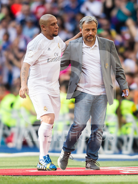 Roberto Carlos during the Corazon Classic Match 2016 at Estadio Santiago Bernabeu between Real Madrid Legends and Ajax Legends. Jun 5,2016. (ALTERPHOTOS/Rodrigo Jimenez)