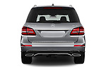 Straight rear view of 2018 Mercedes Benz GLS-Class GLS450 5 Door SUV Rear View  stock images