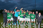THE VICTORS: Lisselton Rovers' squad celebrate after beating Tralee Dynamos in the Kerry District League Premier A final.