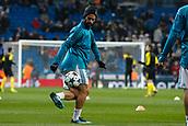 6th December 2017, Santiago Bernabeu, Madrid, Spain; UEFA Champions League football, Real Madrid versus Dortmund; Francisco Roman Alarcon (22) Real Madrid Pre-match warm-up