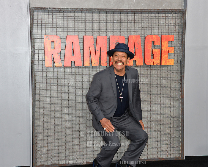 Danny Trejo at the premiere for &quot;Rampage&quot; at the Microsoft Theatre, Los Angeles, USA 04 April 2018<br /> Picture: Paul Smith/Featureflash/SilverHub 0208 004 5359 sales@silverhubmedia.com