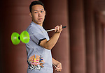 Yang Ken Jhih poses for a portrait ahead the Red Bull PAO 2015 at the National Taiwan Science Education Centre in Taipei, Taiwan. Photo by Aitor Alcalde / Power Sport Images