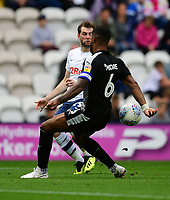 Reading's Liam Moore blocks a cross by Preston North End's Tom Barkhuizen<br /> <br /> Photographer Chris Vaughan/CameraSport<br /> <br /> The EFL Sky Bet Championship - Preston North End v Reading - Saturday 15th September 2018 - Deepdale - Preston<br /> <br /> World Copyright &copy; 2018 CameraSport. All rights reserved. 43 Linden Ave. Countesthorpe. Leicester. England. LE8 5PG - Tel: +44 (0) 116 277 4147 - admin@camerasport.com - www.camerasport.com