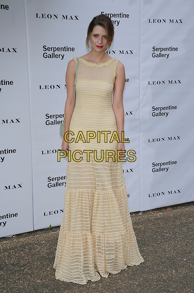 Mischa Barton.Serpentine Galley Summer Party, Kensington Palace Gardens, London, England..26th June 2012.full length white dress cream yellow sleeveless sheer .CAP/PL .©Phil Loftus/Capital Pictures.